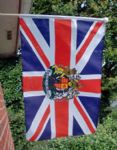 HAND WAVING FLAG - Union Jack with Royal Crest